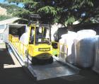 Rampa mobile da piazzale zincata